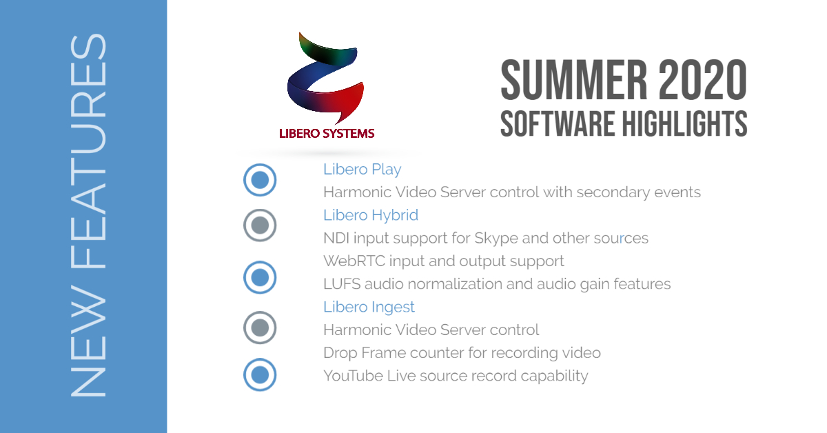 Libero Systems new features / Summer 2020